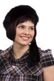 czarny owłosiona kapeluszowa kobieta obrazy royalty free