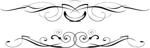 czarny ozdobny wektorowy biel ilustracji