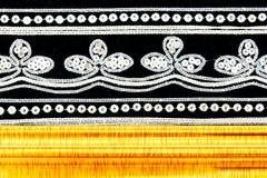 czarny płótno haftujący ramowy złocisty drewniany Obraz Royalty Free