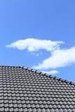 Czarny płytka dach Zdjęcia Royalty Free
