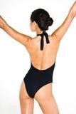 Czarny pływania kostiumu rozciągliwość obrazy stock