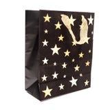 czarny papier torby na zakupy Fotografia Stock
