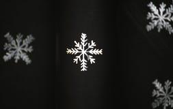 czarny papierowy płatek śniegu Obraz Royalty Free