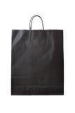 Czarny papierowy torba na zakupy Fotografia Stock