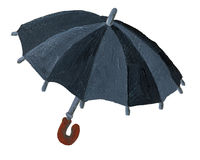 czarny parasol Fotografia Royalty Free