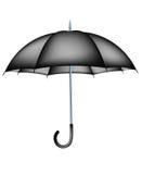 Czarny parasol royalty ilustracja