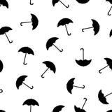 Czarny parasolowy bezszwowy wzór Zdjęcie Stock