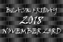Czarny Piątek - czarny i biały Ilustracji