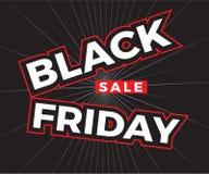 Czarny Piątek sprzedaży kwadrata sztandar ilustracji