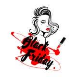 Czarny Piątek sprzedaży projekt Obraz Royalty Free