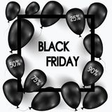 czarny Piątek Sztandar dla twój projekta z balonami światowy dzień sprzedaż również zwrócić corel ilustracji wektora Zdjęcie Royalty Free