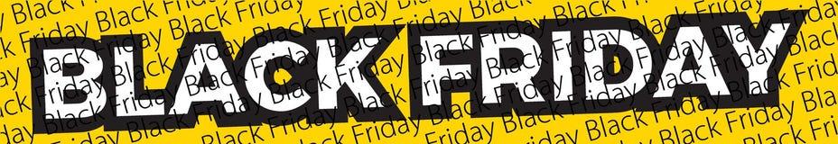 Czarny Piątku sztandar Wektorowy sztandar dla sklepów, sieć ilustracja wektor