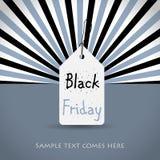 Czarny Piątku tło z białą etykietką Obraz Royalty Free