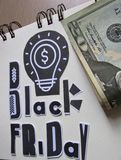 czarny Piątek Kaligraficzny handmade pisze list Black Friday zdjęcia royalty free