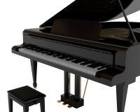 czarny pianino Fotografia Royalty Free