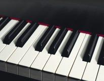 CZARNY pianino WPISUJE zbliżenie Obrazy Stock