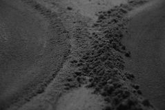 czarny piasek zdjęcie royalty free