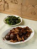 Czarny pieczarkowy fertanie dłoniaka wieprzowiny żołądek Obraz Royalty Free