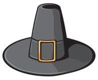 Czarny pielgrzymi kapelusz Obrazy Stock