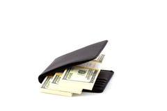 czarny pieniądze kiesy rolki Obraz Royalty Free