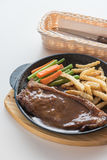 czarny pieprzowy stek Obrazy Stock