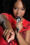 czarny śpiewacka kobieta Obraz Stock