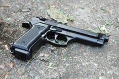 Czarny pistolet 9mm Obraz Royalty Free