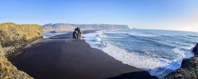 Czarny Plażowy Vik zdjęcie royalty free