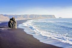 Czarny Plażowy Vik obraz royalty free