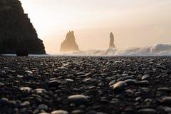 czarny plażowy Islandii Obrazy Stock