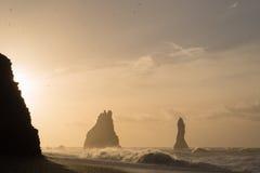 czarny plażowy Islandii Zdjęcia Stock
