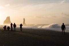 czarny plażowy Islandii Obraz Royalty Free