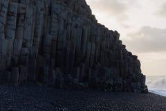 czarny plażowy Islandii Obrazy Royalty Free