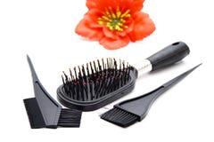 Czarny Plastikowy Hairbrush z kolorystyki muśnięciem Obrazy Royalty Free