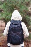 Czarny plecak na spena Zdjęcie Royalty Free