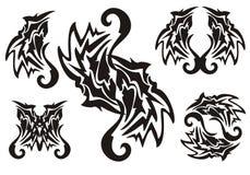 Czarny plemienny elementu tatuaż Zdjęcie Stock