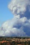 Czarny pożar lasu obraz royalty free