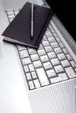 czarny podołka planisty kieszeni srebra wierzchołek Obraz Royalty Free