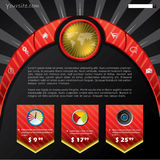 czarny pojęcia czerwieni strona internetowa Zdjęcie Stock