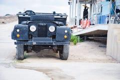 czarny pojazd wojskowy Fotografia Royalty Free