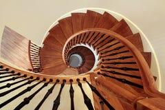 czarny poręcza ślimakowaty schody Obraz Royalty Free