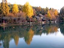 czarny porcelanowy smoka lijiang basen Obrazy Royalty Free