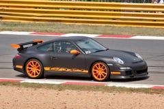 czarny Porsche zdjęcie royalty free