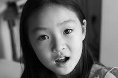 czarny portret white Zdjęcie Royalty Free