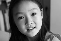 czarny portret white Zdjęcia Stock