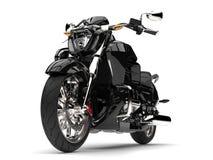 Czarny potężny nowożytny siekacza rower - frontowego koła zbliżenia strzał Zdjęcie Royalty Free