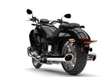 Czarny potężny nowożytny siekacza rower - tylni koła zbliżenia strzał Fotografia Stock