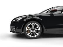 Czarny Potężny samochód Na Białym tle Obrazy Royalty Free