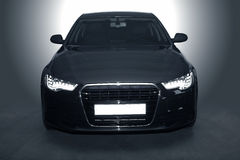 Czarny potężny sporta samochód Obrazy Stock