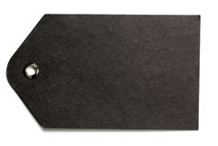 czarny prezenta papieru etykietka Zdjęcie Royalty Free